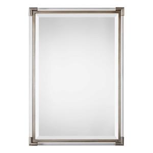 uttermost mackai rectangular acrylic lucite silver tall wall mirror