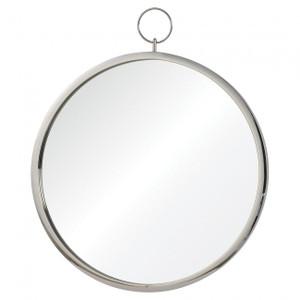 "renwil Porto Chrome 23 1/2"" x 30"" Round wall mirror vanity bathroom silver wall mirror"