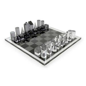 tizo luxury acrylic skyscraper chess set black white luxury lucite