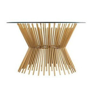 tov Grace Glass Coffee Table gold wheat base Inspire Me Home Décor