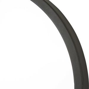 uttermost dark bronze taft mirror racetrack shape mid century modern