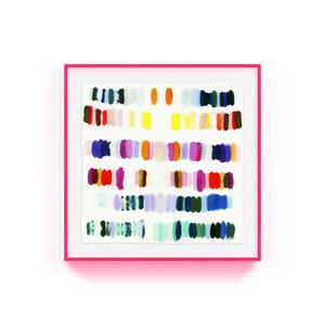 kristi kohut heavenly palette modern abstract fine art print pink acrylic lucite shadow box frame