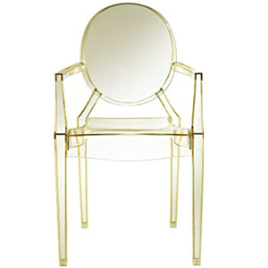 modway casper clear ghost replica dining armchair acrylic plastic