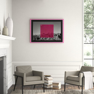 Pink on BW' Graphic Art Four Hands Art Studio black white photography lucite frame mixed media