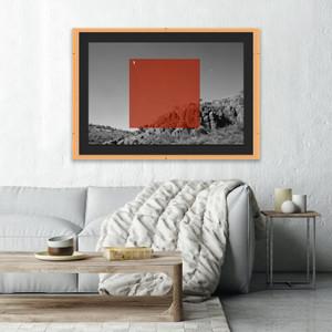 fourhands studio orange on bw modern black white photography art shadow box