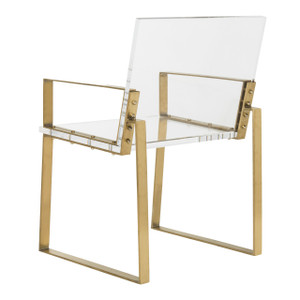 safavieh langston arm chair acrylic and gold dining chair modern contemporary all clear dining office desk chair