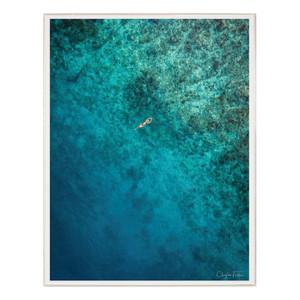 """Folden Float"" Ocean Photography in Acrylic Shadowbox Frame"