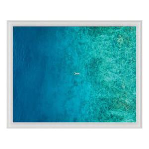 """Folden Float"" Ocean No. 9 Photography in Acrylic Shadowbox Frame"
