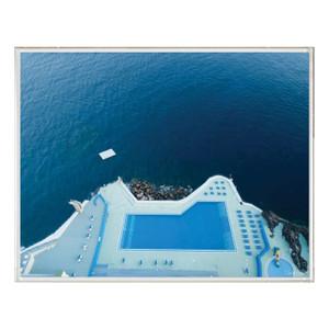 """Folden Float"" Ocean No. 7 Photography in Acrylic Shadowbox Frame"