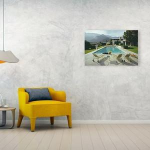kaufmann desert house slim aarons photo mid century modern floating acrylic lucite wall art decor photography