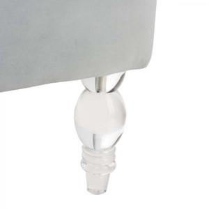safavieh Geode Modern Wingback Chair - Light Silver clear acrylic lucite leg tall