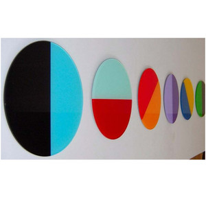 Large Bright Color Lucite Discs, Set of 6 acrylic round dimensional wall art sculptures