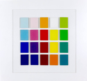 large 24 inch modern abstract bright color lucite acrylic plexiglass wall art sculpture dimensional