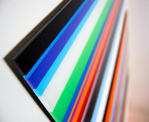 large huge long horizontal modern bright color stripe acrylic lucite wall art dimensional