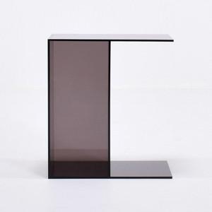 "Smoke Grey Transparent Acrylic ""Flip"" Table"