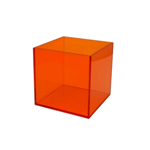 Custom Colors Lucite Cube Table,  Color Options