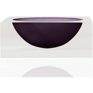 tizo acrylic lucite modern thick color bottom decorative bowl