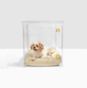 Lucite Pet Crate to Gate, Large Hiddin lucite acrylic furniture kennel