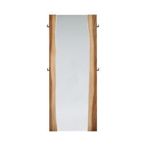 coaster furniture Winslow Standing Mirror Smokey Walnut And Coffee Bean live edge industrial modern leaner floor standing