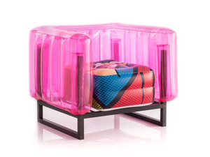 mojow yomi pop art limited edition inflatable blow up kids indoor outdoor modern black frame chair