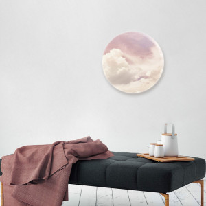 In the Clouds Round Acrylic Wall Art