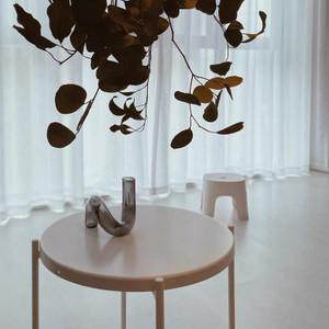 Modern Glass Abstract Twist Vase in Grey,