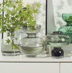 Modern Handblown Glass Black Vases