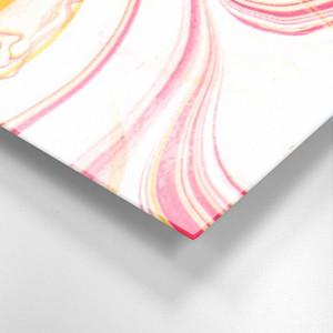 Abstract Pink Swirls on Acrylic Wall Art