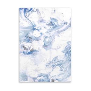Abstract Blue Swirls on Acrylic Wall Art (ASCENDITUR Art