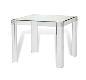 acrylic game table chic modern game room table backgammon clear lucite interlude home Gwenyth Game Table