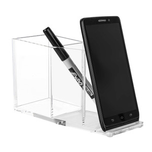 Lucite Cell Phone Stand and Pencil Cup