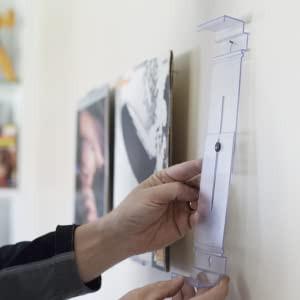 Clear Wall Mount Adjustable Floater Frame, 4 Pack