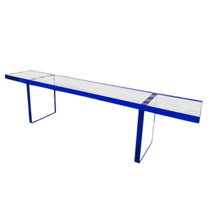 """Neon Color Edge 1"""" Thick Clear Acrylic  Coffee Table,  Color Options"""