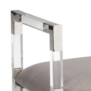 chelsea house master suite Clear Arm Bench with Grey Seat