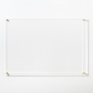 Large Clear Acrylic Dry Erase Board with Metal Stand Offs