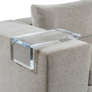 Clear Acrylic Armrest Tray For Drink or Phone