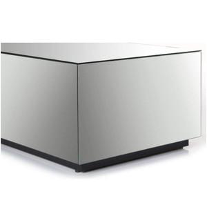 Modern Mirrored Rectangular Coffee Table