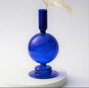 "Mid Century Modern ""Ball"" Vase, Color Options handblown glass candlestick holder"