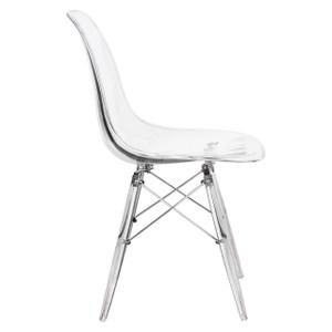 eames Eiffel chair replica clear lucite acrylic armless desk office chair cheap