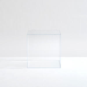 clear Acrylic Lucite cube bin storage Box w/ Hinged Lid toy organizer food container large scoop