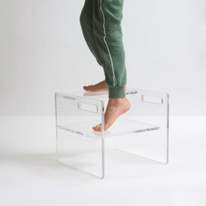 Clear Lucite Kid's Step Stool Chair