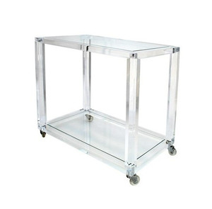 Clear Lucite Storage Rolling Cart/Trolley
