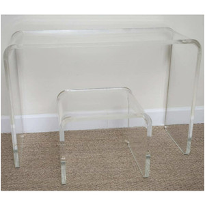 """Modern Waterfall 1"""" Thick Make Up Vanity/Console"""