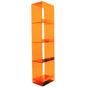 """Color Lucite 72"""" Tall Bookcase,  Color Options"""