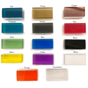 Color Lucite Base Coffee Table with Clear Top,  Color Options