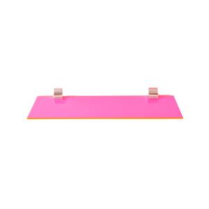 Neon Color Acrylic Wall Shelf with Chrome Brackets,   Options
