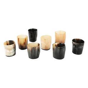 Natural Horn Shot Glasses, Set of 8