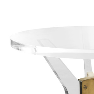 safavieh werner end table clear round side table with clear lucite acrylic round to