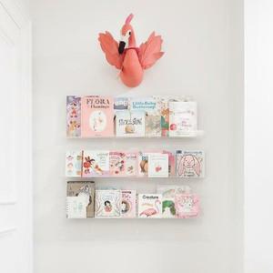 """36"""" Clear Acrylic Wall Shelf"""