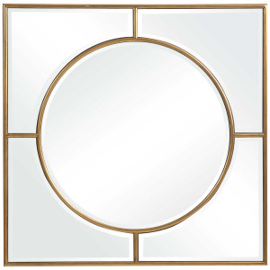 uttermost Stanford square mirror bullseye gold large 48 inch